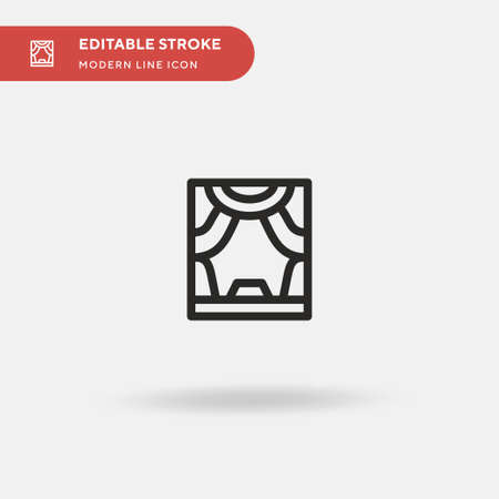 Cultures Simple vector icon. Illustration symbol design template for web mobile UI element. Perfect color modern pictogram on editable stroke. Cultures icons for your business project Ilustracja
