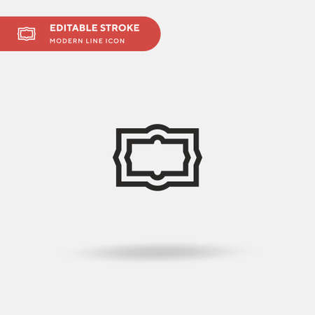 Frames Simple vector icon. Illustration symbol design template for web mobile UI element. Perfect color modern pictogram on editable stroke. Frames icons for your business project 向量圖像