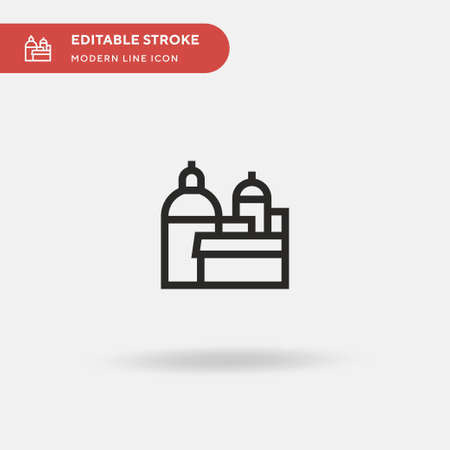 Rome Simple vector icon. Illustration symbol design template for web mobile UI element. Perfect color modern pictogram on editable stroke. Rome icons for your business project