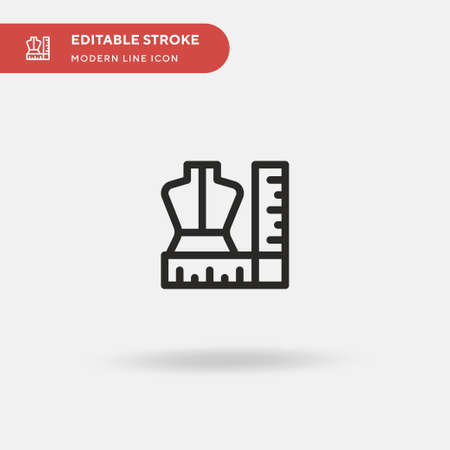 Dressmaker Simple vector icon. Illustration symbol design template for web mobile UI element. Perfect color modern pictogram on editable stroke. Dressmaker icons for your business project