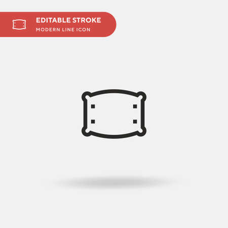 Pillow Simple vector icon. Illustration symbol design template for web mobile UI element. Perfect color modern pictogram on editable stroke. Pillow icons for your business project