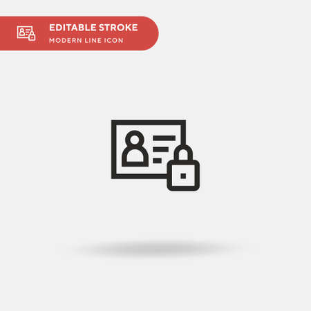 Data Protection Simple vector icon. Illustration symbol design template for web mobile UI element. Perfect color modern pictogram on editable stroke. Data Protection icons for your business project