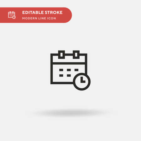 Calendar Simple vector icon. Illustration symbol design template for web mobile UI element. Perfect color modern pictogram on editable stroke. Calendar icons for your business project