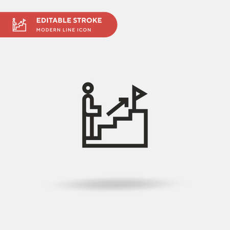 Goal Simple vector icon. Illustration symbol design template for web mobile UI element. Perfect color modern pictogram on editable stroke. Goal icons for your business project Foto de archivo - 151146471