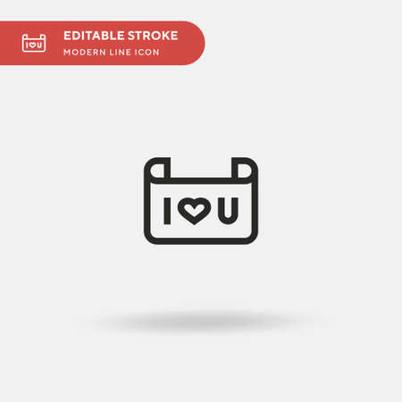 I Love You Simple vector icon. Illustration symbol design template for web mobile UI element. Perfect color modern pictogram on editable stroke. I Love You icons for your business project