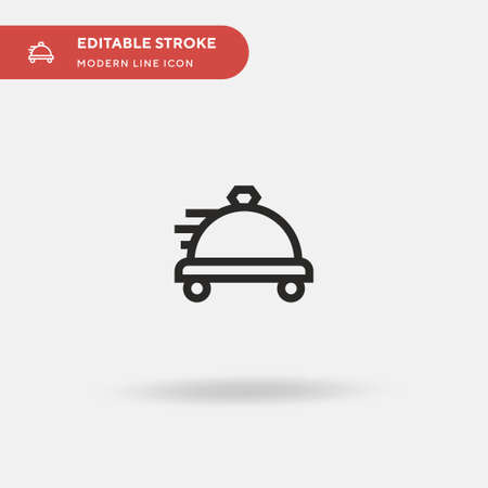 Food Delivery Simple vector icon. Illustration symbol design template for web mobile UI element. Perfect color modern pictogram on editable stroke. Food Delivery icons for your business project Иллюстрация