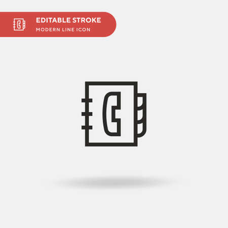 Agenda Simple vector icon. Illustration symbol design template for web mobile UI element. Perfect color modern pictogram on editable stroke. Agenda icons for your business project
