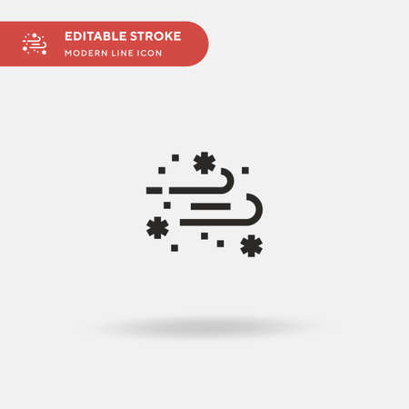 Blizzard Simple vector icon. Illustration symbol design template for web mobile UI element. Perfect color modern pictogram on editable stroke. Blizzard icons for your business project