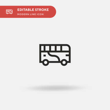 Bus Simple vector icon. Illustration symbol design template for web mobile UI element. Perfect color modern pictogram on editable stroke. Bus icons for your business project