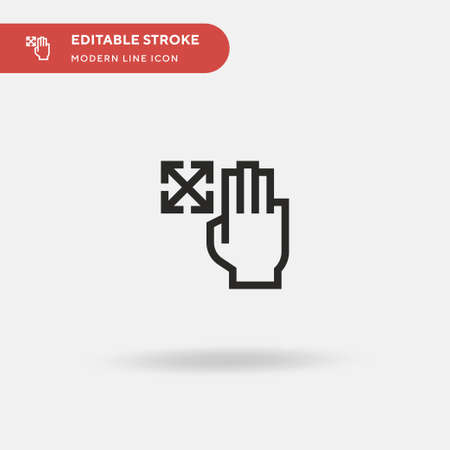 Directions Simple vector icon. Illustration symbol design template for web mobile UI element. Perfect color modern pictogram on editable stroke. Directions icons for your business project 向量圖像