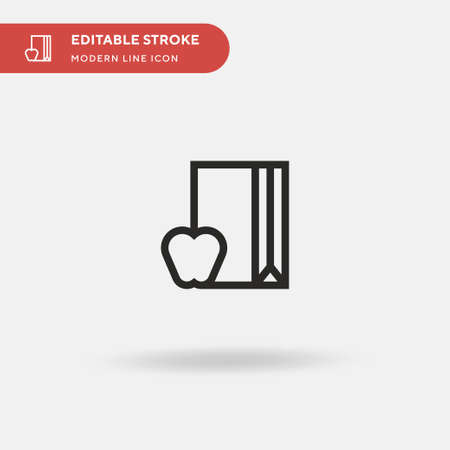 Lunch Bag Simple vector icon. Illustration symbol design template for web mobile UI element. Perfect color modern pictogram on editable stroke. Lunch Bag icons for your business project