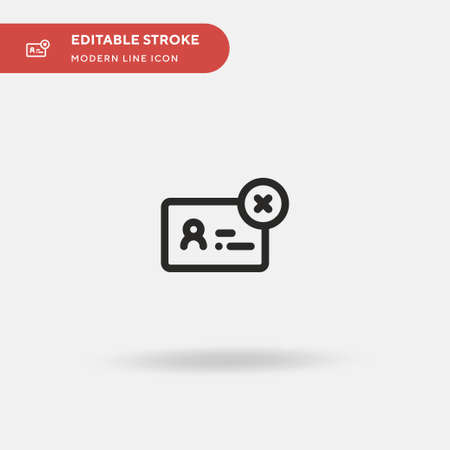 Denied Simple vector icon. Illustration symbol design template for web mobile UI element. Perfect color modern pictogram on editable stroke. Denied icons for your business project