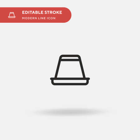 Creme Caramel Simple vector icon. Illustration symbol design template for web mobile UI element. Perfect color modern pictogram on editable stroke. Creme Caramel icons for your business project Standard-Bild - 151219135