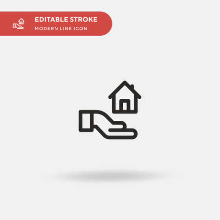 Mortgage Simple vector icon. Illustration symbol design template for web mobile UI element. Perfect color modern pictogram on editable stroke. Mortgage icons for your business project