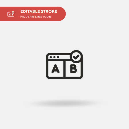 Browser Simple vector icon. Illustration symbol design template for web mobile UI element. Perfect color modern pictogram on editable stroke. Browser icons for your business project Ilustrace