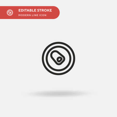 Can Simple vector icon. Illustration symbol design template for web mobile UI element. Perfect color modern pictogram on editable stroke. Can icons for your business project