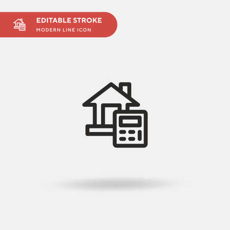 House Simple vector icon. Illustration symbol design template for web mobile UI element. Perfect color modern pictogram on editable stroke. House icons for your business project