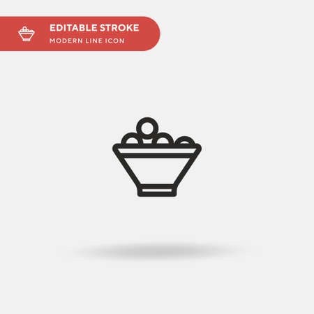 Fruit Bowl Simple vector icon. Illustration symbol design template for web mobile UI element. Perfect color modern pictogram on editable stroke. Fruit Bowl icons for your business project Ilustração
