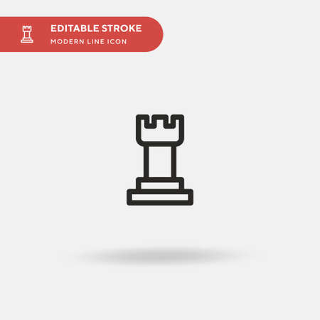 Chess Simple vector icon. Illustration symbol design template for web mobile UI element. Perfect color modern pictogram on editable stroke. Chess icons for your business project Archivio Fotografico - 151362490