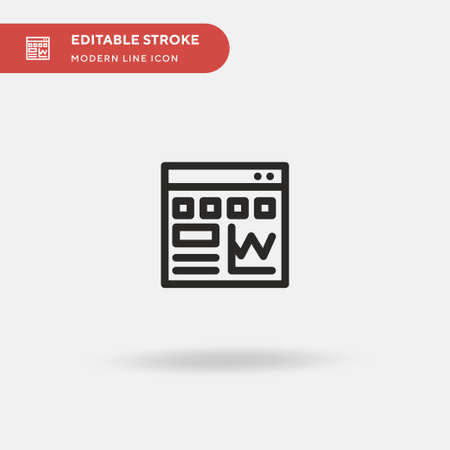 Traffic Simple vector icon. Illustration symbol design template for web mobile UI element. Perfect color modern pictogram on editable stroke. Traffic icons for your business project Stock Illustratie