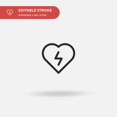 Defibrillator Simple vector icon. Illustration symbol design template for web mobile UI element. Perfect color modern pictogram on editable stroke. Defibrillator icons for your business project Illustration