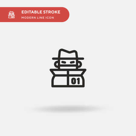 Hacker Simple vector icon. Illustration symbol design template for web mobile UI element. Perfect color modern pictogram on editable stroke. Hacker icons for your business project Vettoriali
