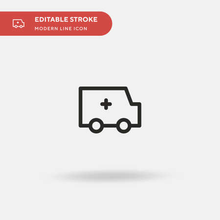 Ambulance Simple vector icon. Illustration symbol design template for web mobile UI element. Perfect color modern pictogram on editable stroke. Ambulance icons for your business project