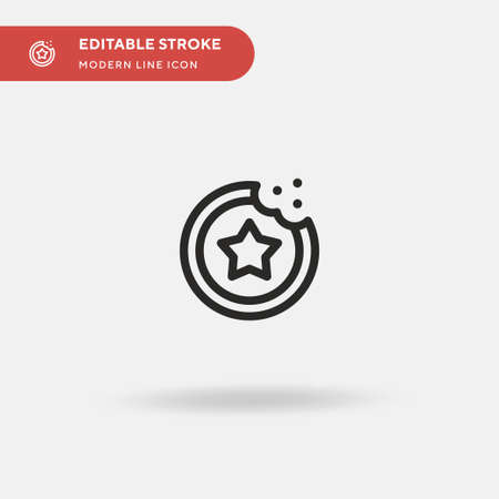 Favorite Simple vector icon. Illustration symbol design template for web mobile UI element. Perfect color modern pictogram on editable stroke. Favorite icons for your business project