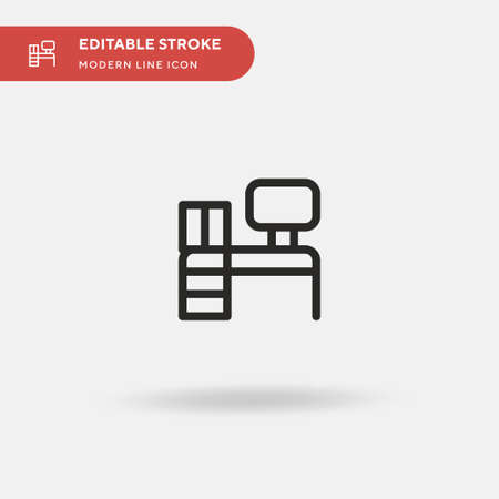 Office Simple vector icon. Illustration symbol design template for web mobile UI element. Perfect color modern pictogram on editable stroke. Office icons for your business project
