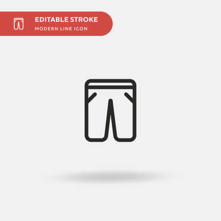 Trousers Simple vector icon. Illustration symbol design template for web mobile UI element. Perfect color modern pictogram on editable stroke. Trousers icons for your business project Ilustrace
