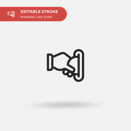 Insert Coin Simple vector icon. Illustration symbol design template for web mobile UI element. Perfect color modern pictogram on editable stroke. Insert Coin icons for your business project