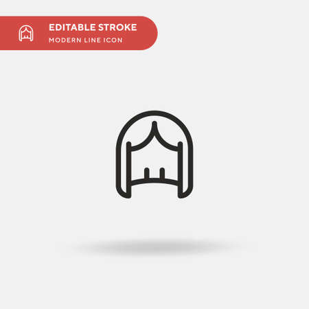 Wigs Simple vector icon. Illustration symbol design template for web mobile UI element. Perfect color modern pictogram on editable stroke. Wigs icons for your business project Ilustração