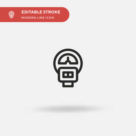 Parking Meter Simple vector icon. Illustration symbol design template for web mobile UI element. Perfect color modern pictogram on editable stroke. Parking Meter icons for your business project