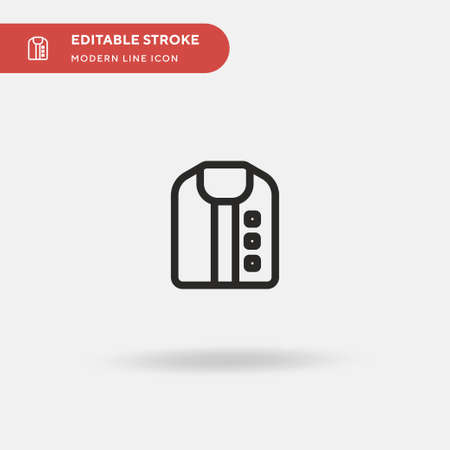 Jacket Simple vector icon. Illustration symbol design template for web mobile UI element. Perfect color modern pictogram on editable stroke. Jacket icons for your business project 矢量图像