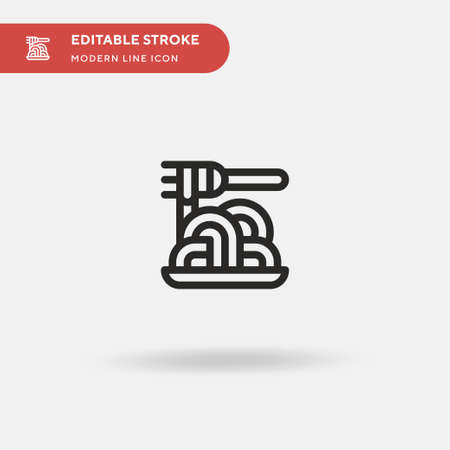 Spaguetti Simple vector icon. Illustration symbol design template for web mobile UI element. Perfect color modern pictogram on editable stroke. Spaguetti icons for your business project Vecteurs
