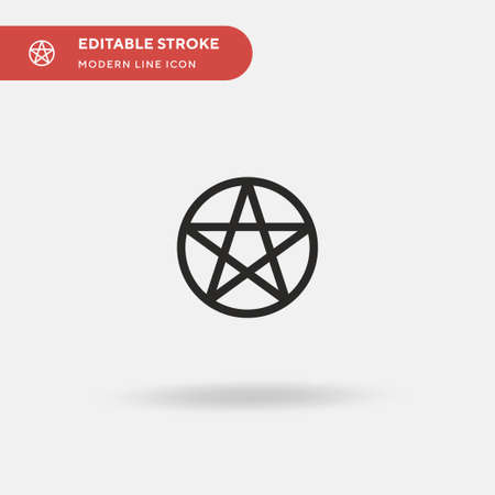 Pentacle Simple vector icon. Illustration symbol design template for web mobile UI element. Perfect color modern pictogram on editable stroke. Pentacle icons for your business project