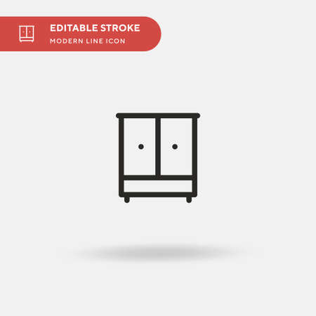 Wardrobe Simple vector icon. Illustration symbol design template for web mobile UI element. Perfect color modern pictogram on editable stroke. Wardrobe icons for your business project Ilustrace