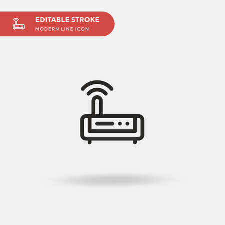 Modem Simple vector icon. Illustration symbol design template for web mobile UI element. Perfect color modern pictogram on editable stroke. Modem icons for your business project