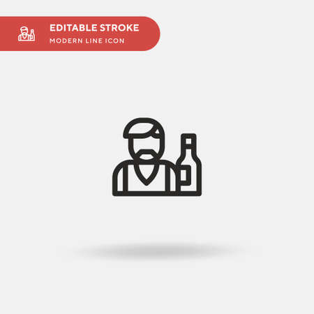 Barman Simple vector icon. Illustration symbol design template for web mobile UI element. Perfect color modern pictogram on editable stroke. Barman icons for your business project