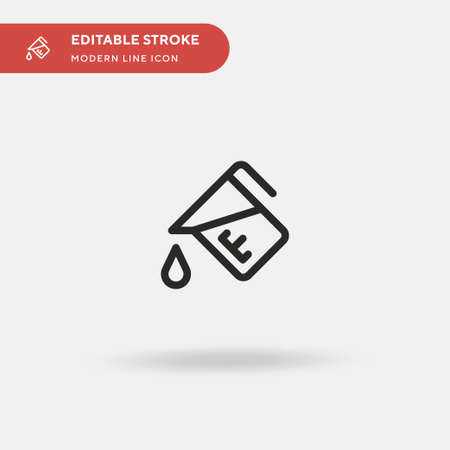 Measure Simple vector icon. Illustration symbol design template for web mobile UI element. Perfect color modern pictogram on editable stroke. Measure icons for your business project