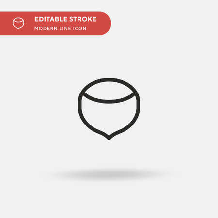 Hazelnut Simple vector icon. Illustration symbol design template for web mobile UI element. Perfect color modern pictogram on editable stroke. Hazelnut icons for your business project