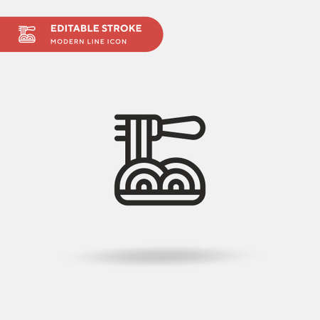 Spaguetti Simple vector icon. Illustration symbol design template for web mobile UI element. Perfect color modern pictogram on editable stroke. Spaguetti icons for your business project