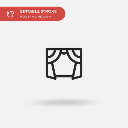 Curtains Simple vector icon. Illustration symbol design template for web mobile UI element. Perfect color modern pictogram on editable stroke. Curtains icons for your business project