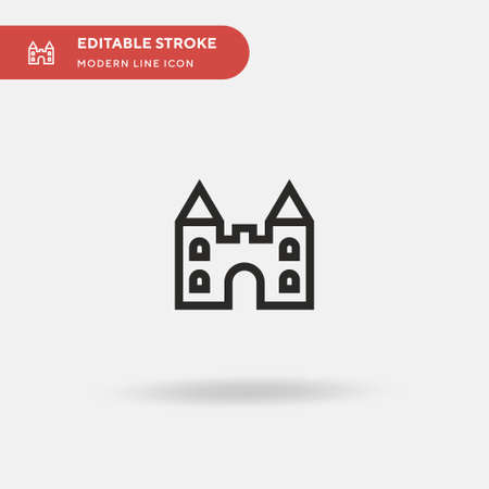 Castle Simple vector icon. Illustration symbol design template for web mobile UI element. Perfect color modern pictogram on editable stroke. Castle icons for your business project Vettoriali