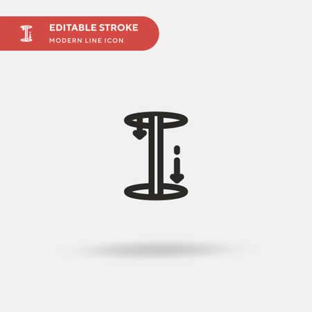 Fire Department Simple vector icon. Illustration symbol design template for web mobile UI element. Perfect color modern pictogram on editable stroke. Fire Department icons for your business project Reklamní fotografie - 151291753