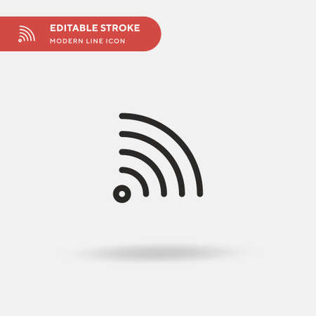 Rss Simple vector icon. Illustration symbol design template for web mobile UI element. Perfect color modern pictogram on editable stroke. Rss icons for your business project