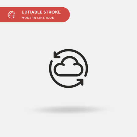Loading Simple vector icon. Illustration symbol design template for web mobile UI element. Perfect color modern pictogram on editable stroke. Loading icons for your business project