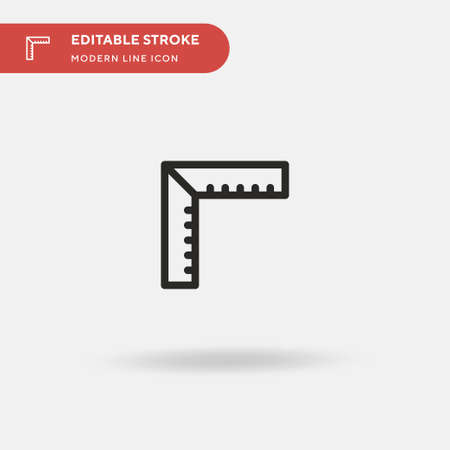 Rulers Simple vector icon. Illustration symbol design template for web mobile UI element. Perfect color modern pictogram on editable stroke. Rulers icons for your business project