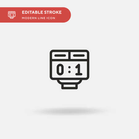Scoreboard Simple vector icon. Illustration symbol design template for web mobile UI element. Perfect color modern pictogram on editable stroke. Scoreboard icons for your business project