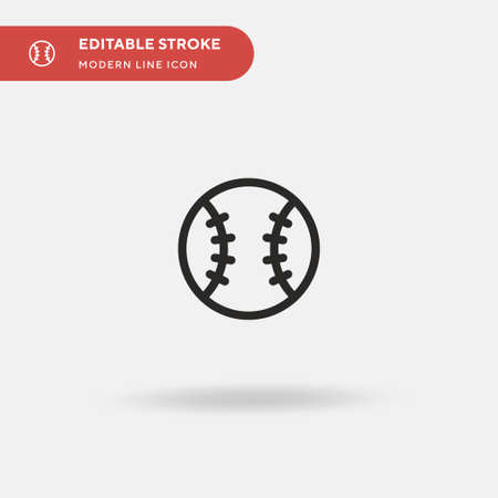 Baseball Simple vector icon. Illustration symbol design template for web mobile UI element. Perfect color modern pictogram on editable stroke. Baseball icons for your business project Иллюстрация